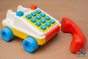Vintage 1970s Chicco Toy Telephone - Made in Italy - Wood Wood Toys Canada's Favourite Montessori Toy Store