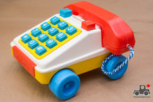 Load image into Gallery viewer, Vintage 1970s Chicco Toy Telephone - Made in Italy - Wood Wood Toys Canada's Favourite Montessori Toy Store