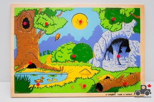 Vintage 1970s Simplex Forest Puzzle - Made in Holland! - Wood Wood Toys Canada's Favourite Montessori Toy Store