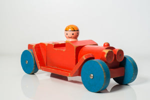 Vintage 1971 Mattel Wooden Car Puzzle - Wood Wood Toys Canada's Favourite Montessori Toy Store