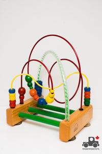 Vintage 1980s Educo Bead Rollercoaster (Made in Canada) - Wood Wood Toys Canada's Favourite Montessori Toy Store
