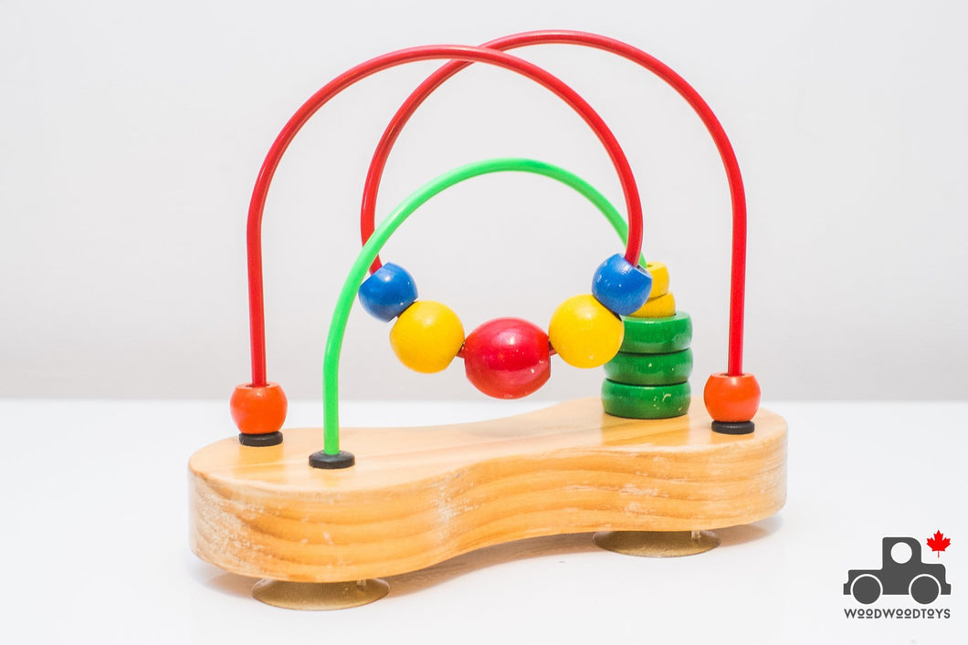 Vintage 1980s Educo Small Bead Rollercoaster (Made in Canada) - Wood Wood Toys Canada's Favourite Montessori Toy Store