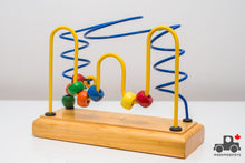 Load image into Gallery viewer, Vintage 1990s Educo Medium Bead Rollercoaster (Made in Canada) - Wood Wood Toys Canada's Favourite Montessori Toy Store