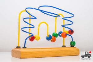 Vintage 1990s Educo Medium Bead Rollercoaster (Made in Canada) - Wood Wood Toys Canada's Favourite Montessori Toy Store