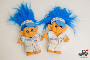 Vintage 1992 Toronto Blue Jays World Series Troll Dolls (set of 2) - Wood Wood Toys Canada's Favourite Montessori Toy Store
