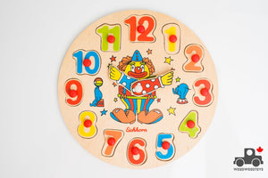 Vintage Eichhorn Clock Puzzle - Wood Wood Toys Canada's Favourite Montessori Toy Store