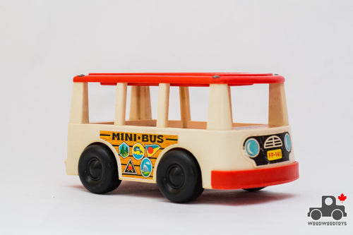 Vintage Fisher Price #141 Play Family Mini Bus - Wood Wood Toys Canada's Favourite Montessori Toy Store