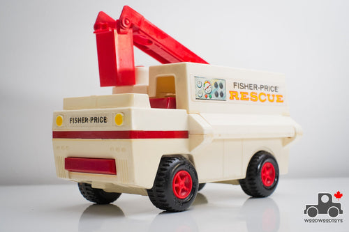 Vintage Fisher Price #303 Emergency Rescue Truck - Wood Wood Toys Canada's Favourite Montessori Toy Store