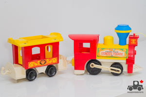 Vintage Fisher Price #991 Play Family Circus Train - Wood Wood Toys Canada's Favourite Montessori Toy Store