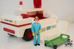 Vintage Fisher Price Adventure People Emergency Rescue Truck - Wood Wood Toys Canada's Favourite Montessori Toy Store