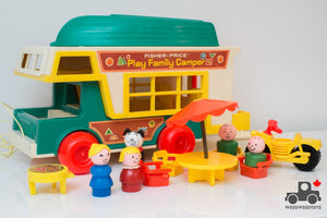 Vintage Fisher Price Family Camper Set #994 - Wood Wood Toys Canada's Favourite Montessori Toy Store