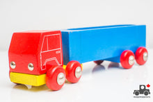 Load image into Gallery viewer, Vintage HEROS Wooden Toy Truck (West Germany, Circa 1971) - Wood Wood Toys Canada's Favourite Montessori Toy Store