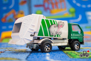 "Vintage Majorette 1:35 ""Hungry Hippo"" Toyota Garbage Truck - Wood Wood Toys Canada's Favourite Montessori Toy Store"