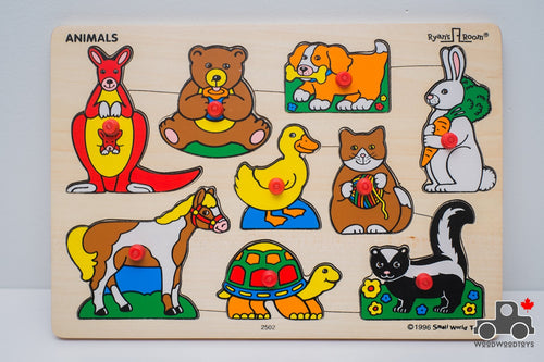 Vintage Ryan's Room Animal Puzzle by Small World Toys - Wood Wood Toys Canada's Favourite Montessori Toy Store