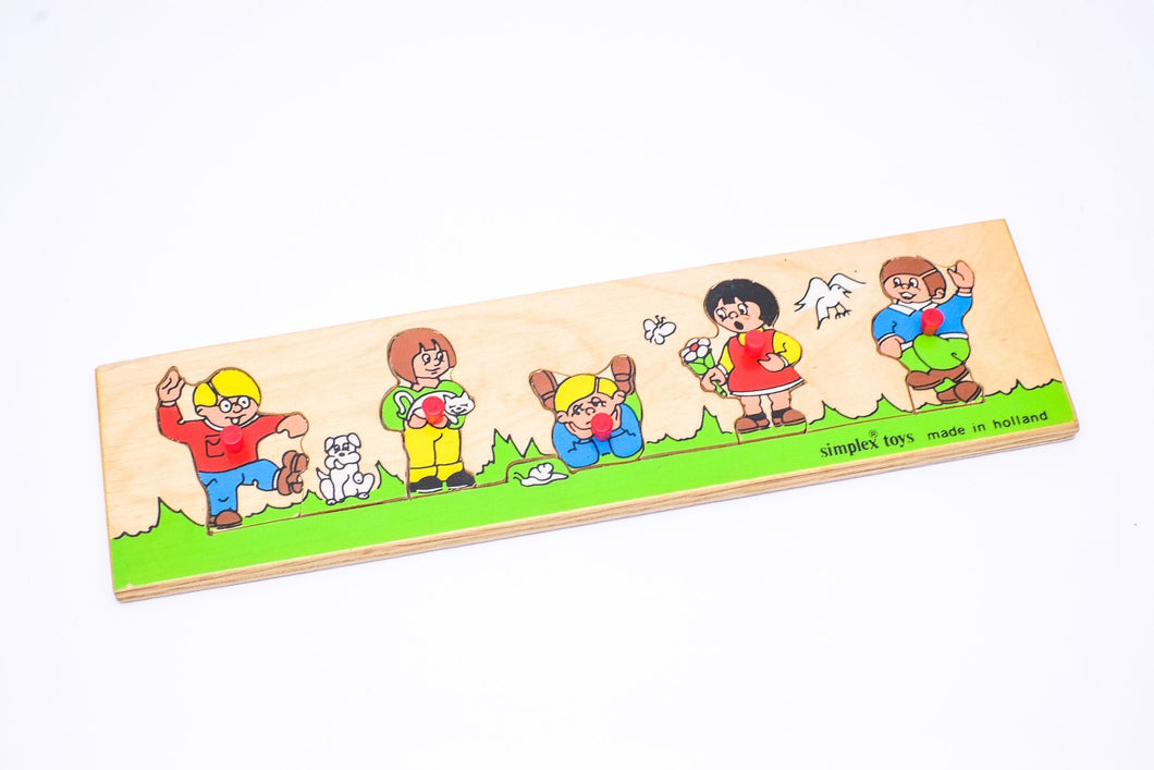 Vintage Simplex Shape Puzzle - Made in Holland (Previously Loved) - Wood Wood Toys Canada's Favourite Montessori Toy Store