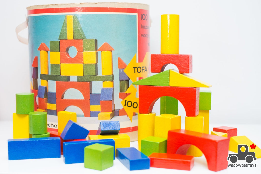 Vintage Tofa Wooden Block Set - Made in Czechoslovakia - Wood Wood Toys Canada's Favourite Montessori Toy Store