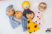 Load image into Gallery viewer, Vintage Tofa Wooden Finger Puppets - Handmade in Czechoslovakia - Wood Wood Toys Canada's Favourite Montessori Toy Store