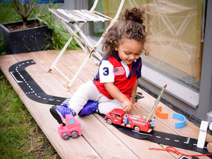 Waytoplay Flexible Roads - Expressway Set (16 pieces) - Wood Wood Toys Canada's Favourite Montessori Toy Store