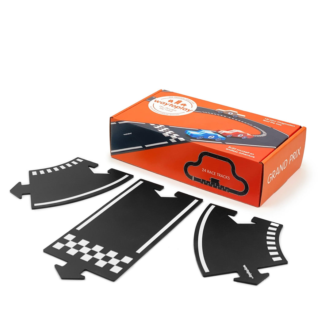 Waytoplay Flexible Roads - Grand Prix (24 pieces) - Wood Wood Toys Canada's Favourite Montessori Toy Store