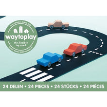 Load image into Gallery viewer, waytoplay Flexible Roads - Highway Set (24 pieces) - Wood Wood Toys Canada's Favourite Montessori Toy Store
