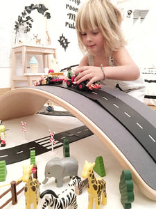 waytoplay Flexible Roads - Highway Set (24 pieces) - Wood Wood Toys Canada's Favourite Montessori Toy Store