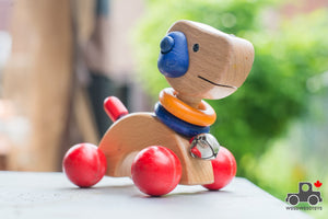 Wheeled Dog Toy - Wood Wood Toys Canada's Favourite Montessori Toy Store