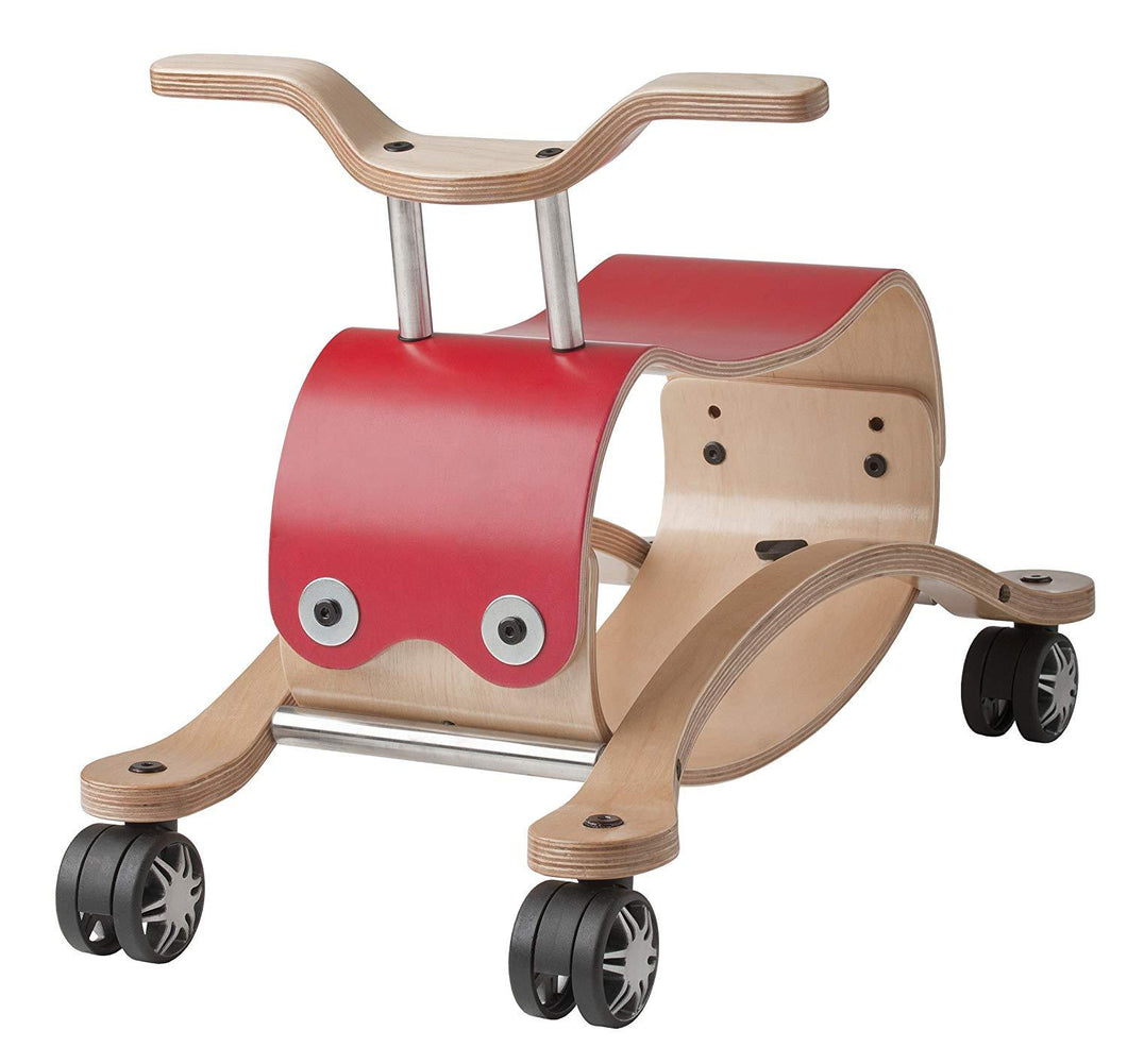 Wishbone Flip 2-in-1 Rock n Roll Ride-On (Red) - Wood Wood Toys Canada's Favourite Montessori Toy Store