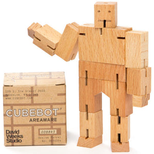 Wood Cube Robot Figure - Wood Wood Toys Canada's Favourite Montessori Toy Store