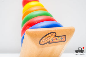 Wood N' Things Rainbow Stacker - Wood Wood Toys Canada's Favourite Montessori Toy Store