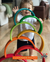 Load image into Gallery viewer, Wood Wood Exclusive EXTRA LARGE Rainbow Montessori Stacker - Wood Wood Toys Canada's Favourite Montessori Toy Store