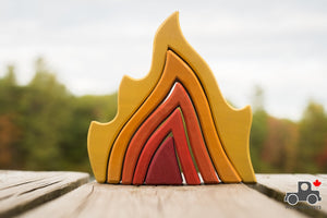 Wood Wood Exclusive Fire Stacker by Avdar - Wood Wood Toys Canada's Favourite Montessori Toy Store