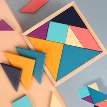 Load image into Gallery viewer, Wood Wood Exclusive Geometric Tangram Puzzle (Pastel Version) - Wood Wood Toys Canada's Favourite Montessori Toy Store
