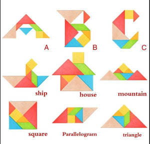 Wood Wood Exclusive Geometric Tangram Puzzle - Wood Wood Toys Canada's Favourite Montessori Toy Store