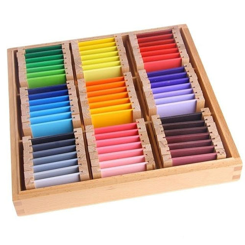Wood Wood Exclusive Montessori Colour Card Boxes - Wood Wood Toys Canada's Favourite Montessori Toy Store