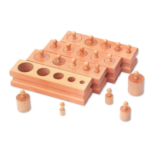 Wood Wood Exclusive Montessori Cylinder Blocks - Wood Wood Toys Canada's Favourite Montessori Toy Store