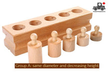 Load image into Gallery viewer, Wood Wood Exclusive Montessori Cylinder Blocks - Wood Wood Toys Canada's Favourite Montessori Toy Store