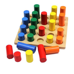 Wood Wood Exclusive Montessori Sensory Shape Board - Wood Wood Toys Canada's Favourite Montessori Toy Store