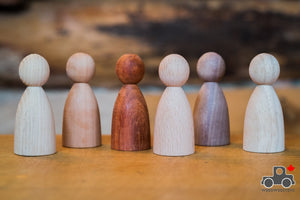 Wood Wood Exclusive Natural Wooden Friends by Avdar (Set of 6) - Wood Wood Toys Canada's Favourite Montessori Toy Store