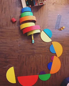 Wood Wood Exclusive Semicircles for Stackers and More - Wood Wood Toys Canada's Favourite Montessori Toy Store