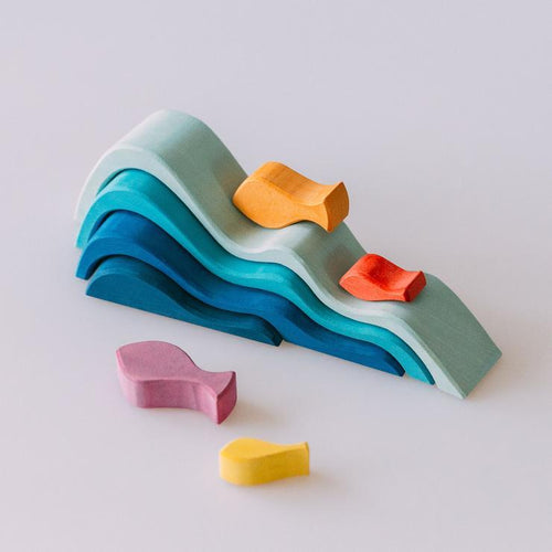 Wood Wood Exclusive Wave Blocks by Avdar - Wood Wood Toys Canada's Favourite Montessori Toy Store