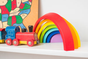 Wood Wood Toys Exclusive Small Rainbow Montessori Blocks - Wood Wood Toys Canada's Favourite Montessori Toy Store
