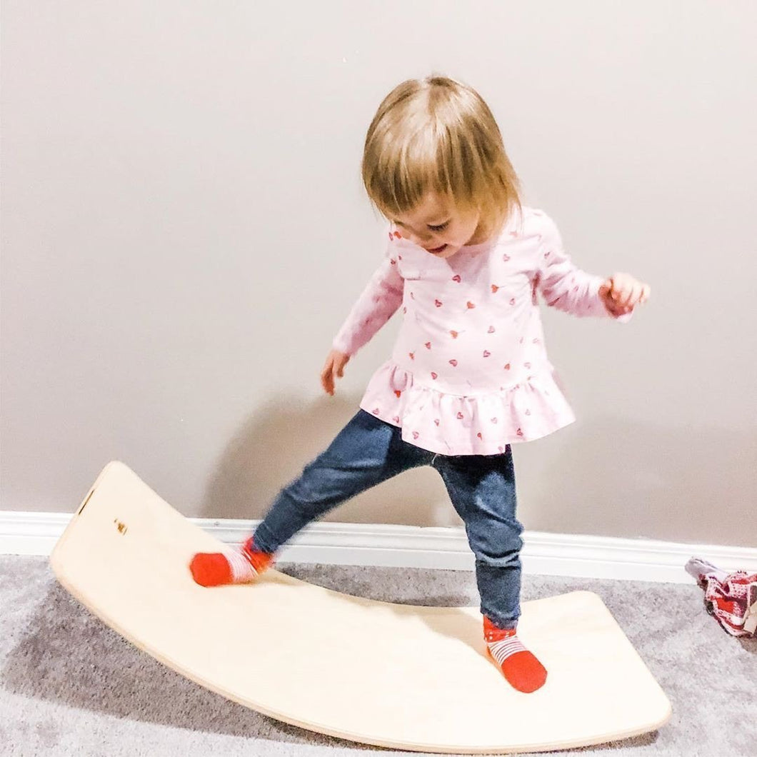 Wood Wood Wobble Balance Board - Made in Canada - Wood Wood Toys Canada's Favourite Montessori Toy Store