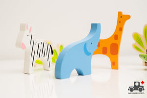 Wooden Animal Set (6 Pieces) - Wood Wood Toys Canada's Favourite Montessori Toy Store