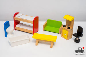 Wooden Doll House Toy Furniture (Assorted) - Wood Wood Toys Canada's Favourite Montessori Toy Store