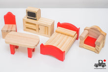 Load image into Gallery viewer, Wooden Doll House Toy Furniture (Lot of 10) - Wood Wood Toys Canada's Favourite Montessori Toy Store