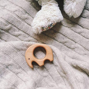 Wooden Elephant Teether by Avdar - Wood Wood Toys Canada's Favourite Montessori Toy Store