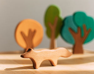 Wooden Fox Teether by Avdar - Wood Wood Toys Canada's Favourite Montessori Toy Store