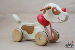 Wooden Pull Dog - Wood Wood Toys Canada's Favourite Montessori Toy Store