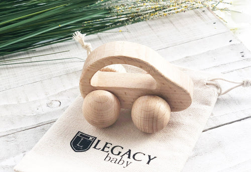 Wooden Toy Car for Babies & Toddlers by Legacy Learning Academy - Wood Wood Toys Canada's Favourite Montessori Toy Store