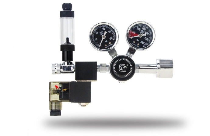 PRO-SE Series - Aquarium CO2 Dual Stage Regulator with Integrated Solenoid - AQUAPROS